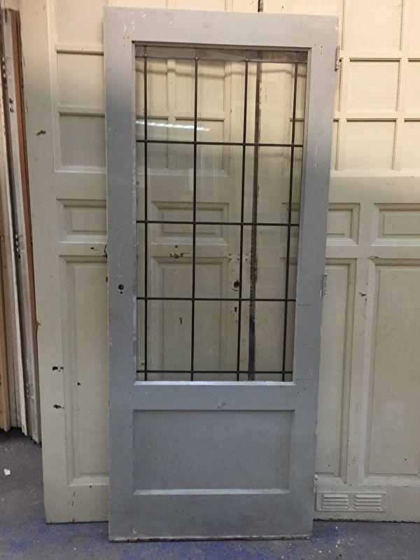nr. gl224 jr30 deur met glas in lood