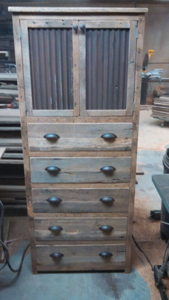 This is an awesome piece that will complete any room while allowing for tons or storage. The wood has neat imperfections that make each one