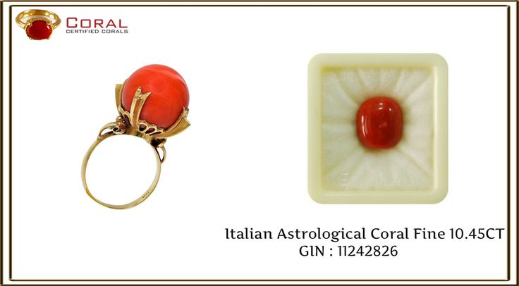 This coral gold ring is perfect to show off your style.