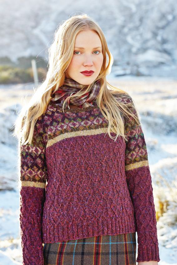 Ness by Marie Wallin from Rowan Magazine 56 (out July 15, 2014). Made in Rowan Tweed, Colourspun & Frost.