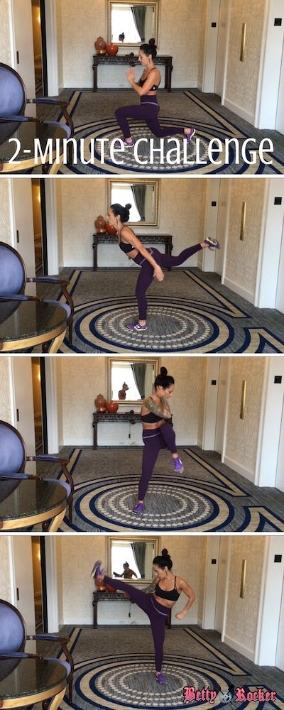 Take this 2-minute Booty and Legs challenge today – you won't need any equipment – and if you have more time, repeat the workout 3 times! Pin it and join me!