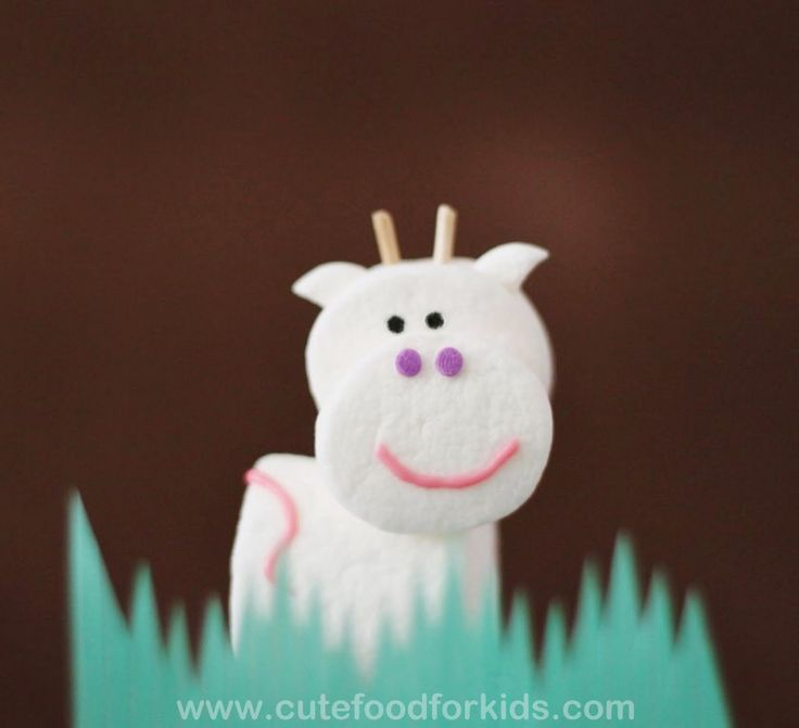Cute Food For Kids?: Marshmallow Pop: Happy Cows