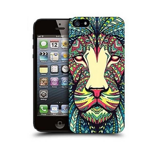 Artistic Colorful Lion Design Back Case for Iphone 5/5s #ChinaBrand