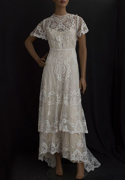 Edwardian wedding dress period clothing pinterest for Period style wedding dresses