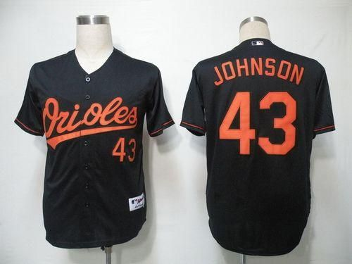 Orioles #43 Jim Johnson Black Cool Base Embroidered MLB Jersey!$21.50USD