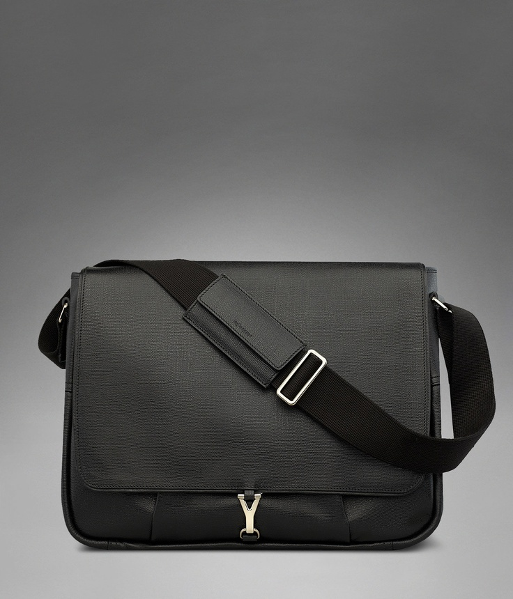 ysl messenger pouch bag in leather
