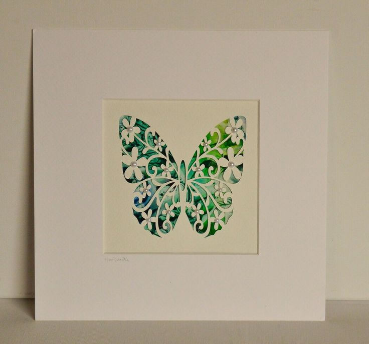 Filigree cut butterfly with encastic wax painted background by Moo Doodle https://www.facebook.com/moodoodle15