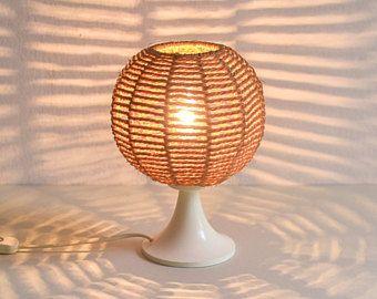 Sisal lamp, rustic night lamp, 70s lamp, desk lamp, accent lamp, 70s string lamp, accent light, night light, nursery light, night stamp lamp