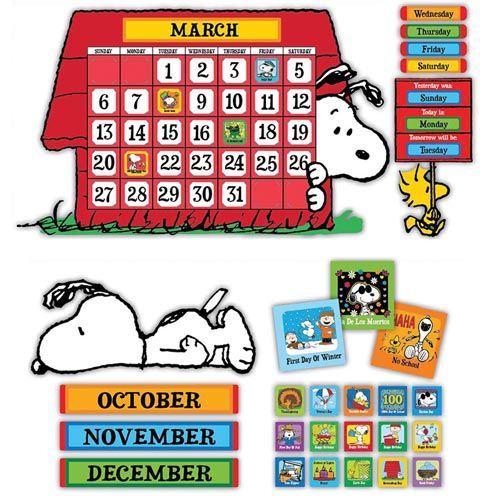 Peanuts Calendar Bulletin Board Set