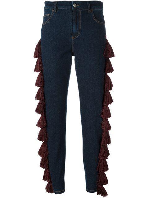 Au Jour Le Jour джинсы с кисточками