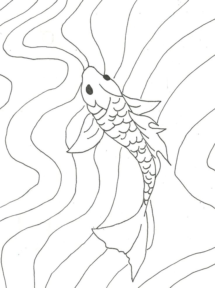 Simple Fish Line Art : Best images about silk painting batik dying on