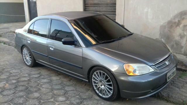 Honda civic 2002 2003 completo automatico aro 17 pneus novos - 2002