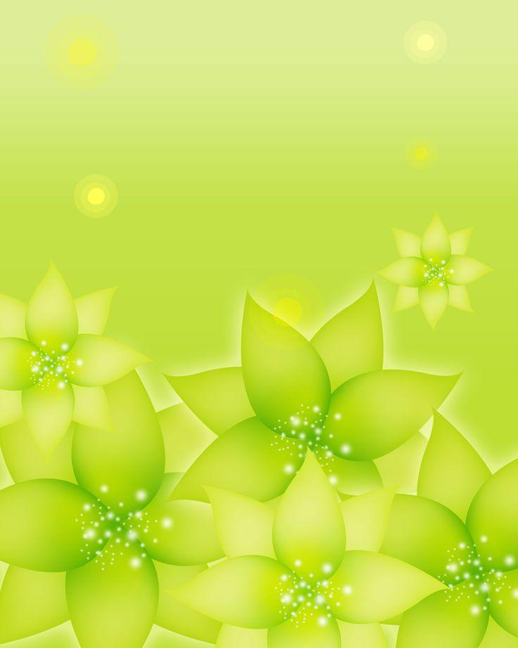 葉っぱの背景・壁紙イラスト-黄緑・光彩・光の粒