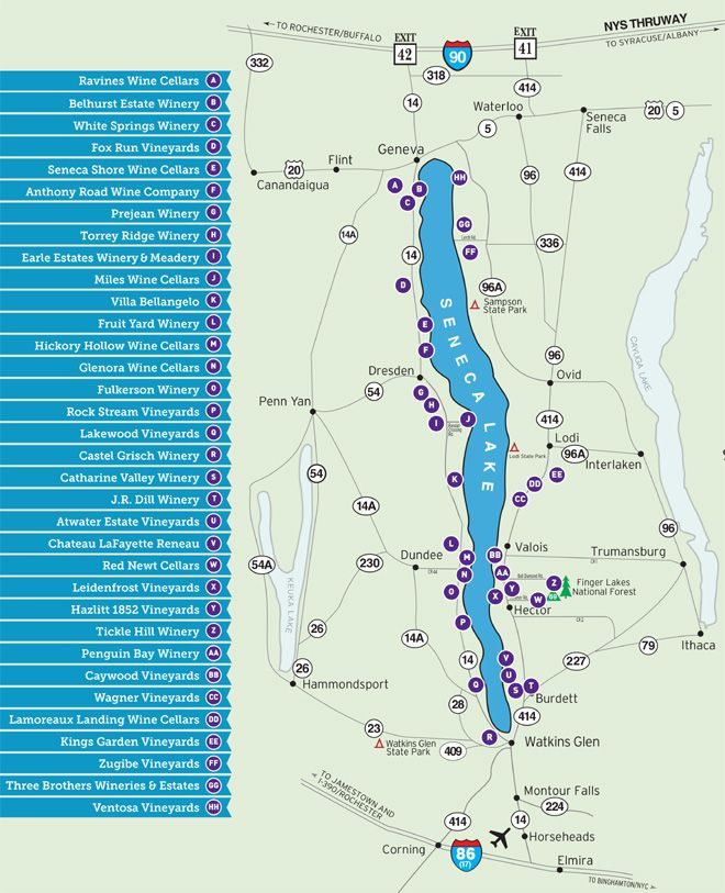 Seneca Lake Wine Trail Map.... Always wanted to visit finger lakes for all their vineyards.