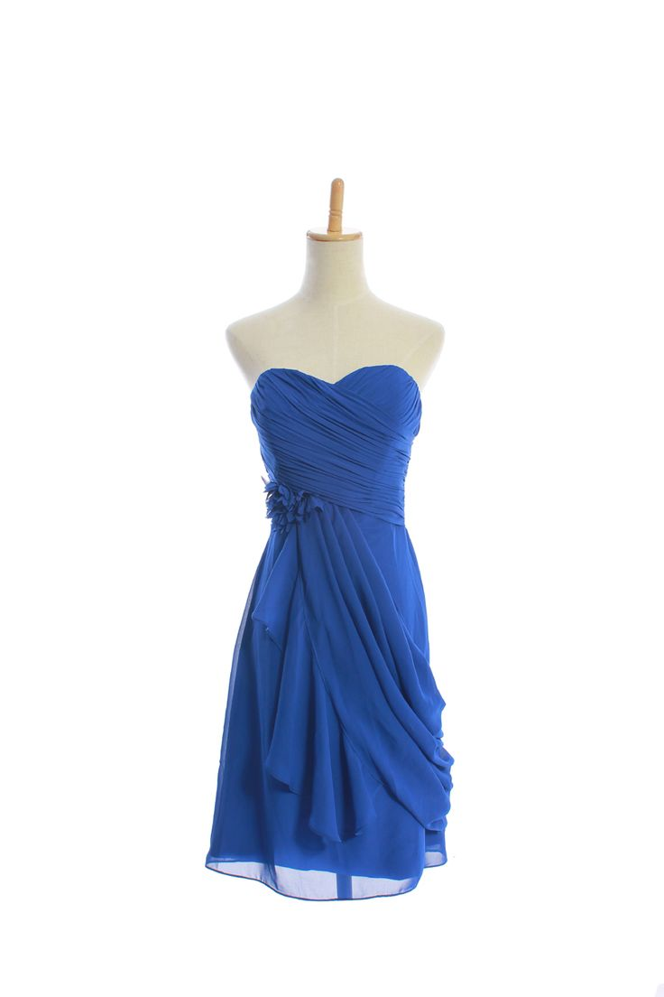 Sweetheart chiffon bridesmaid dress with natural waist (discount price for Anna Heermann ) I just love this neckline and style! So comfy yet classy looking!