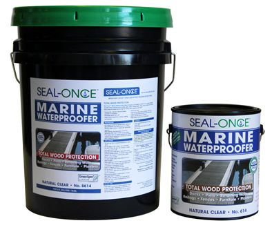 I saw this on Buying & Selling on HGTV. Seal-Once™ Marine Waterproofer Total Wood. Long story short, you can put hardwood in the restroom and water won't get though!!