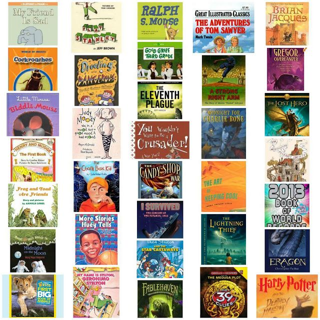 Huge list of books and series for boys recommended by boys, sorted by reading level and ability for grades K-9. You will want this list for the summer!