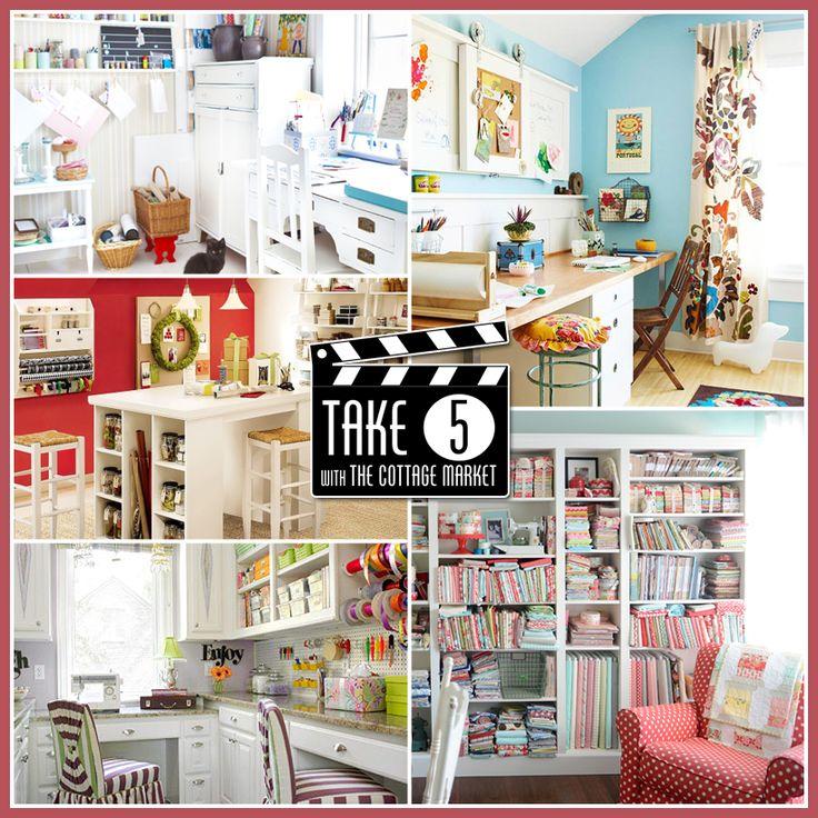 Take 5... Five Fabulous Craft Room Make-overs