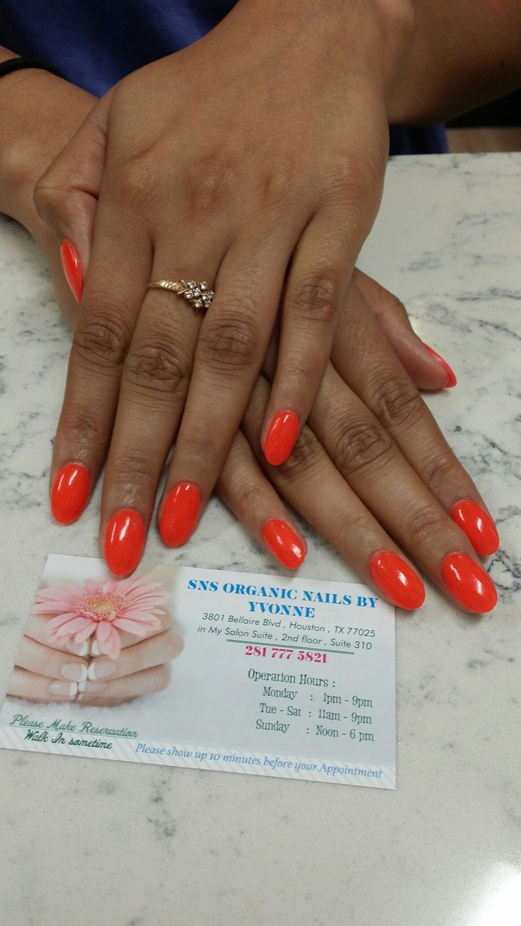 Hello Summer #130 Sns Organic Nails By Yvonne 832 720 0077
