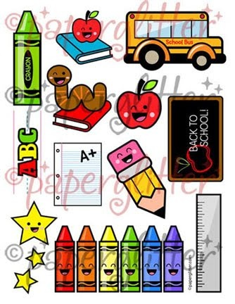 Free Printable, Party Printable, Kawaii, Paper Crafts, Kids Crafts, Stationery, Printable: Back to School Stuff!
