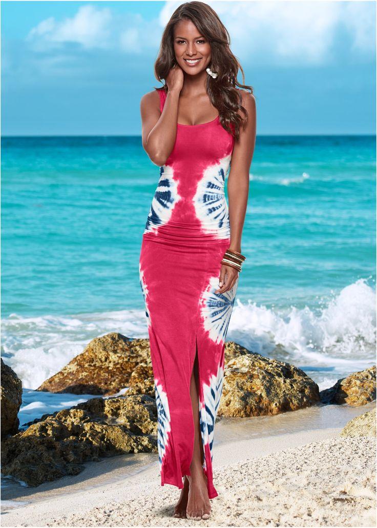 Kleid bunt batik rot - BODYFLIRT boutique jetzt im Online Shop von bonprix.de ab ? 38,99 bestellen. Langes Sommerkleid mit einem Print in Pusteblumen-Optik ...