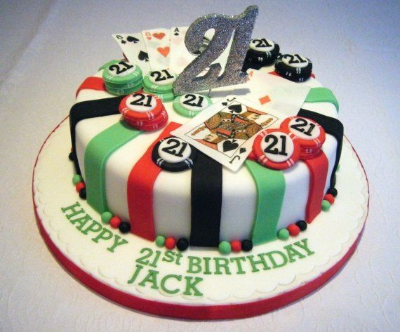 Fun Birthday Cake! More ideas: http://www.internetbet.com/casino-cakes/ #BirthdayCake #cakeideas #21stBirthday