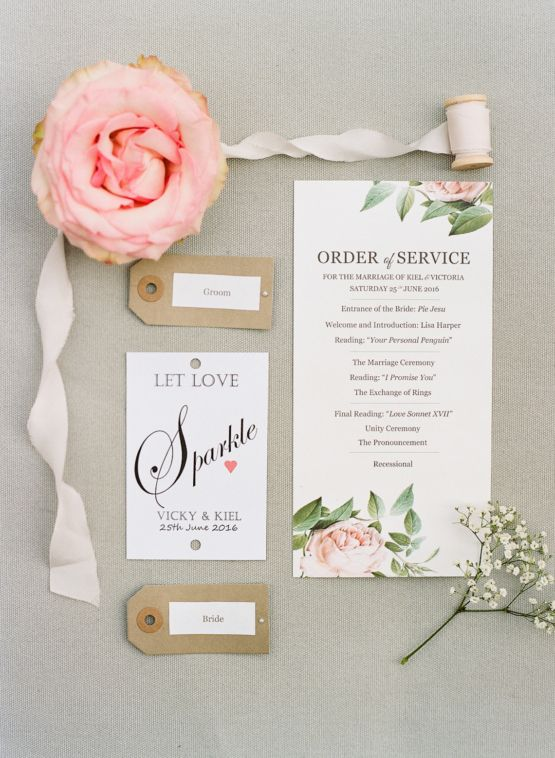 Fresh Creamy Wedding Invitation Suite
