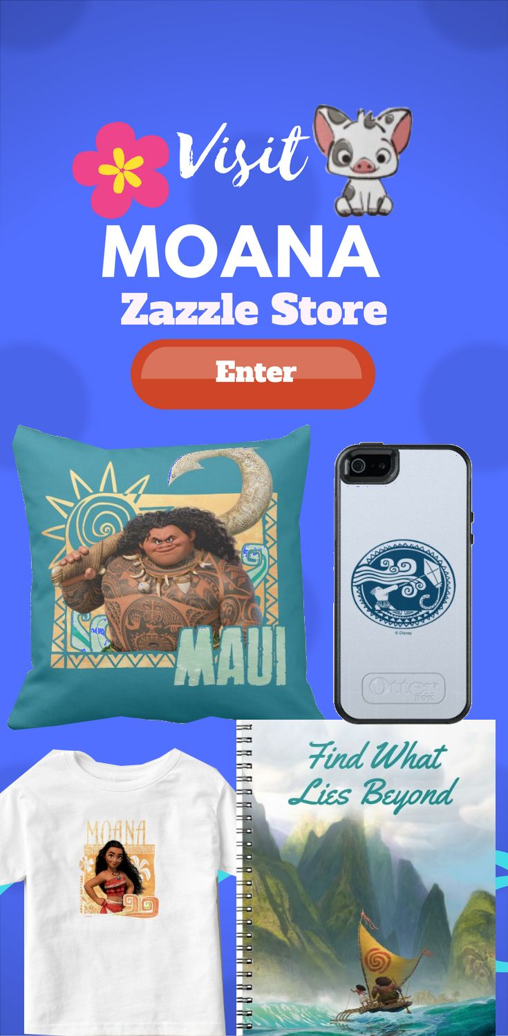 Visit Disneys Moana Zazzle store for many different and unique Moana design on many different Product. Find the design on product like pillow, t-shirt, keychain, iphone case, Samsung case, cups, wallets and more.
