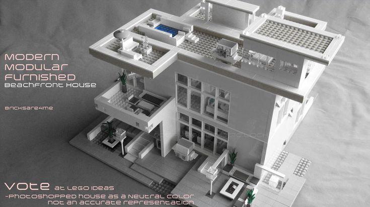 Exellent Modern Architecture Lego House Model By Legoarchitecture Pinterest Models Y For Design Ideas