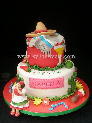 Mexican party cake ~ bolo festa mexicana