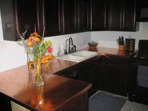 how to make copper countertops get up and diy my. Black Bedroom Furniture Sets. Home Design Ideas