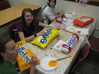 Another great example of math meets art – but in 3D! Have students use proportions to scale up their favorite candies.