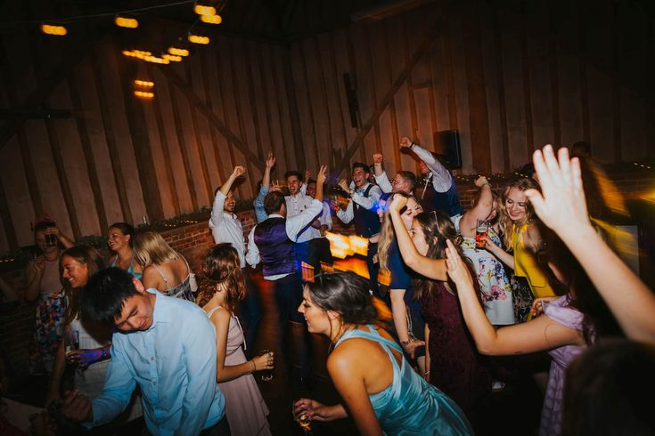 Party time! And everyone is on the dance floor. Photo by Benjamin Stuart Photography #weddingphotography #party #dancing #dancefloor #eveningparty #weddingfun