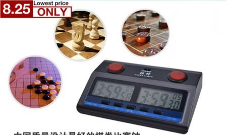 most professional Compact Digital Chess Clock Timer  English instruction Bonus  limit reward 6in1 mode Competition for GO chess  — 1885.94 руб.  —