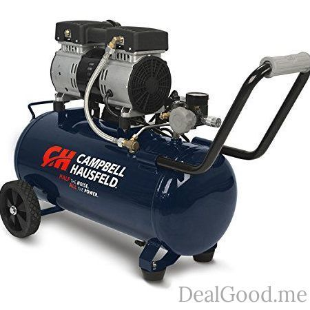 Quiet Air Compressor 8 Gallon Half the Noise 4X the Life All the Power (Campbell Hausfeld  DC080500)