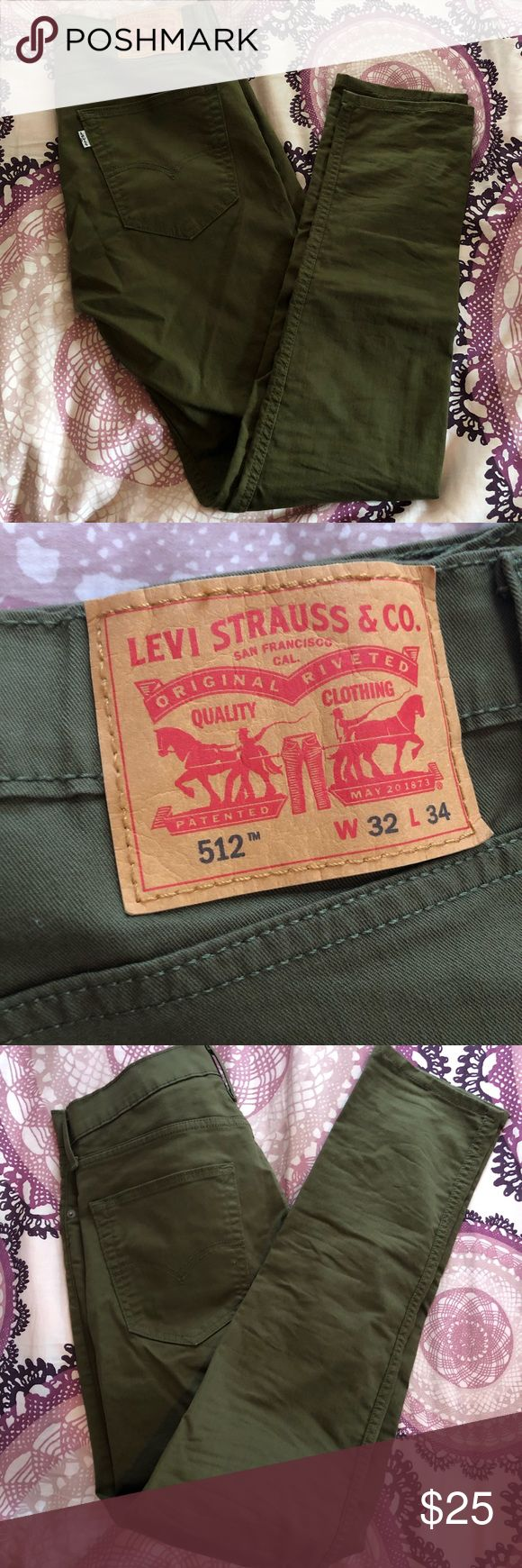 Levi Strauss & Co 512 Army Green Jeans 32/34 Levi Strauss & Co 512 Army Green Jeans waist 32 length 34. never worn, just no tag - no stains or blemishes. price is negotiable, bundle & save! smoke free, pet free home Levi's Jeans Straight