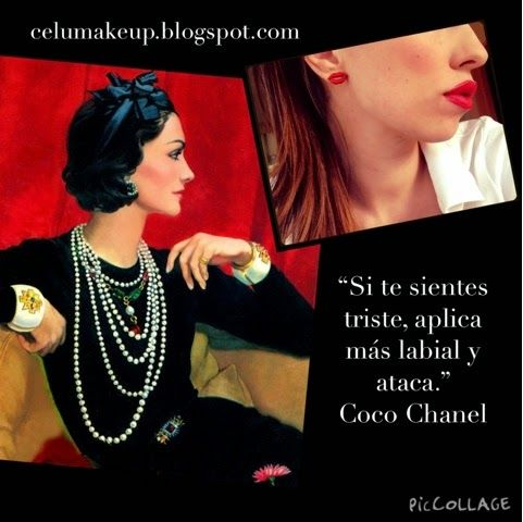 #QUOTES #MAKEUP: Coco Chanel #makeup #makeupblog #maquillaje #makeupblogger #frasessobremaquillaje #frasesmaquillaje #beauty #beautyblog #beautyblogger #womenquote #makeupquote #quote #quoteoftheday #frasedeldia #fashiondesigner #instaquote #makeup #makeupaddict #makeupartist #makeupjunkie #makeupoftheday #maquillaje #fashion #fashionblog #fashionblogger #fashionlook #coco #chanel #cocochanel #lipstick #lips #redlips