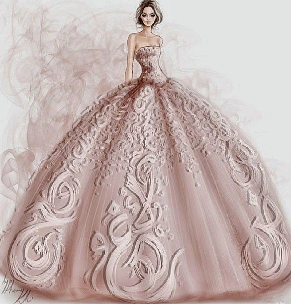 Baby pink dress by ShameKh