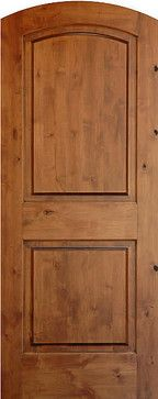 Mediterranean Doors True Arch 2 Panel Solid Wood Knotty