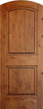 Mediterranean Doors - True Arch 2-panel Solid Wood Knotty Alder Door - mediterranean - interior doors - other metro - Homestead Doors, Inc.