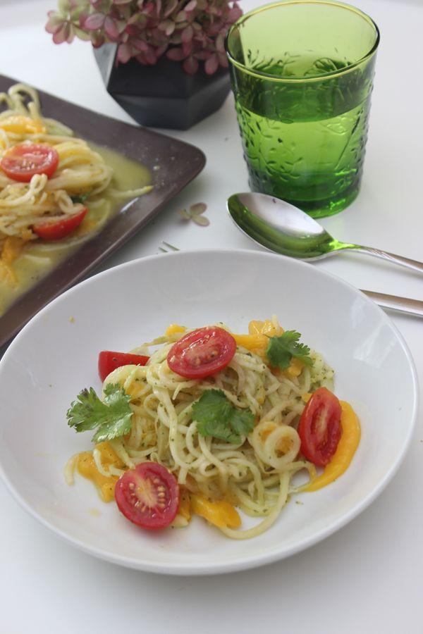 Must-have der Lurch Spiralschneider! Rezept - Kohlrabisalat mit Mango und Tomaten