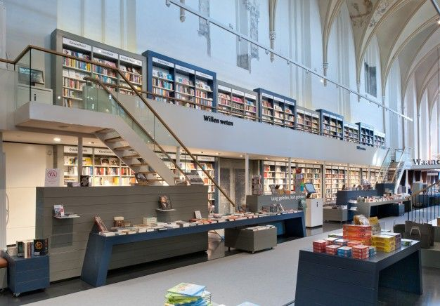 Waanders In der Broeren bookstore in an old monastery by BK Architecten   FUTU.PL