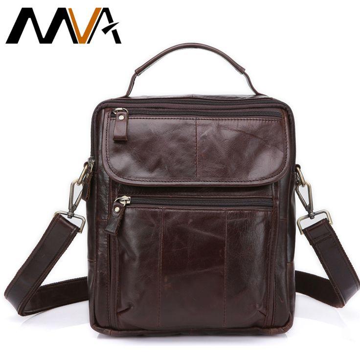 MVA Genuine Leather Bag top-handle Men Bags Shoulder Crossbody Bags Messenger Small Flap Casual Handbags Male Leather Bag New