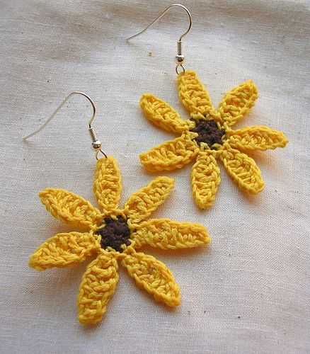 Sunflower Earrings by lindsaystreem, via Flickr