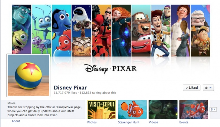 The 50 Best Designed Facebook Brand Cover Photos #Disney #Pixar