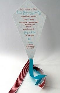 Kite Party Invite and other ideas here