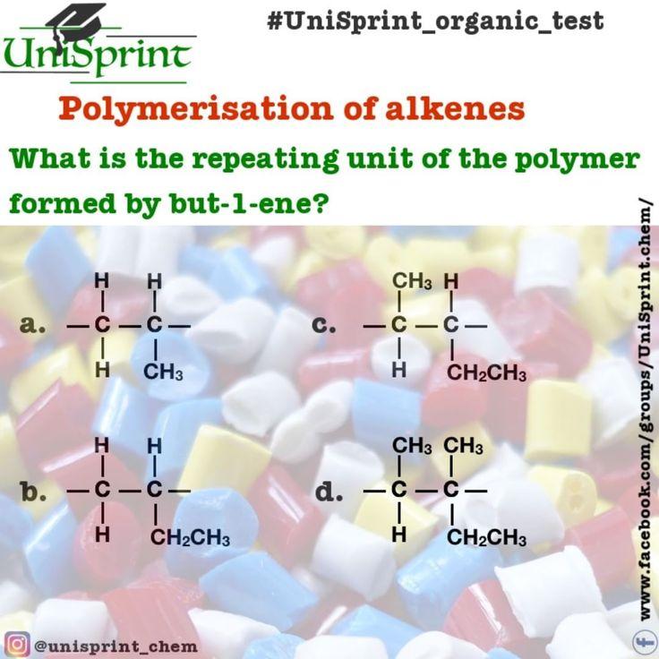 10 best organic chemistry tests unisprint images on pinterest unisprint organic test polymerisation of alkenes alkenes polymerisation unisprint unisprintorganictest fandeluxe Gallery