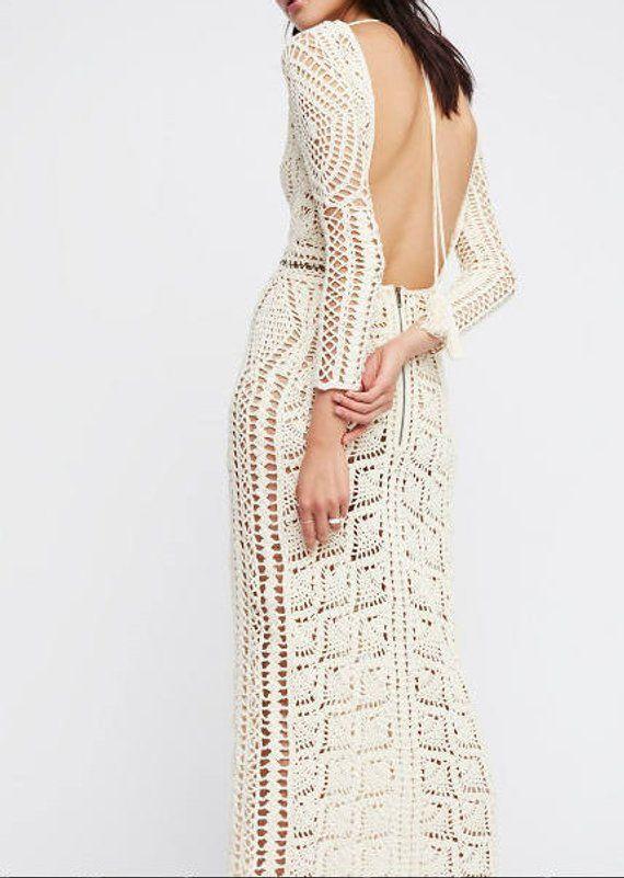 vestido de novia crochet artículo hecho a mano regalos ropa | etsy