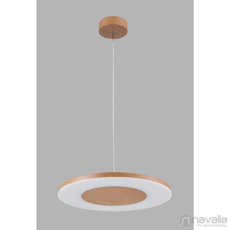 DISCOBOLO - Mantra 4493 - Lămpi cu leduri - lemn LED 36W Ø48x2x20-150cm [MANTRA-4493] - 2,009 RON