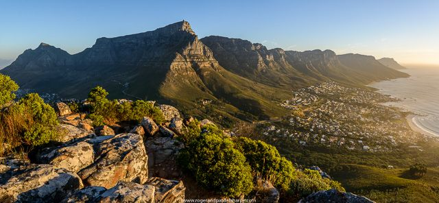 Table Mountain and the 12 Apostles. Cape Town South Africa. See more of our work at http://www.rogerandpatdelaharpe.com